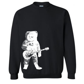 Astronaut Guitar Sweater Gifts For Guitarists Sweatshirt Gibson Music Guitar Sweater Astronaut Sweater Gifts For Him Moon Sweatshirt