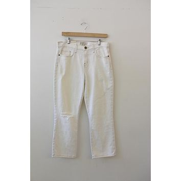 "Current/Elliot ""The Kick Jean"" White Jeans (31)"