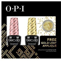OPI GelColor - Nail Art Kit (Are We There Yet?-Pastel and Need Sunglasses-Pastel) with FREE Gold Leaf Applique