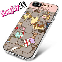 Pusheen Pink iPhone 4s iphone 5 iphone 5s iphone 6 case, Samsung s3 samsung s4 samsung s5 note 3 note 4 case, iPod 4 5 Case