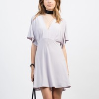 Flowy Tied Back Dress