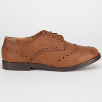 Soda Toast Womens Oxford Shoes Cognac  In Sizes