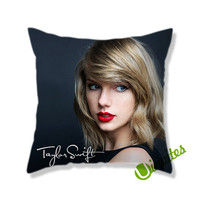 Taylor Swift Red Signature Square Pillow Cover