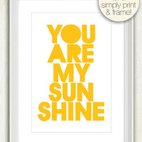 You Are My Sunshine (in Sunny Yellow and White) No. 012 - 4x6 Printable Digital Download Collage Sheet. FREE Delivery via email