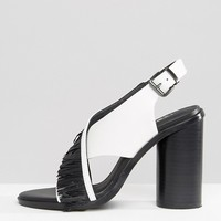 Sol Sana Casey Heel Cross Strap Leather Heeled Sandals at asos.com