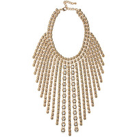 River Island Womens Gold tone statement strand necklace