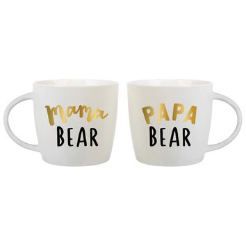 Mama Bear and Papa Bear Mugs - Set of Two