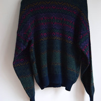 Colorful Cozby Sweater for Men and Women by Ash Creek Size Large