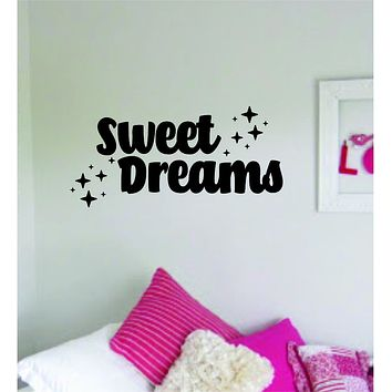Sweet Dreams V2 Quote Wall Decal Sticker Vinyl Art Bedroom Decor Baby Nursery Playroom Kids Stars Son Daugher