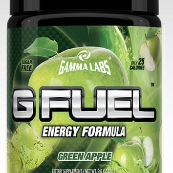 Gamma Labs G Fuel GREEN APPLE 40 servings Natural Energy Drink Gfuel NEW FLAVOR