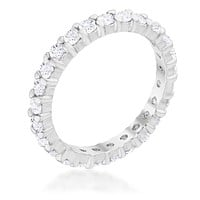 Krista Eternity Round Cut Stackable Ring | 2ct