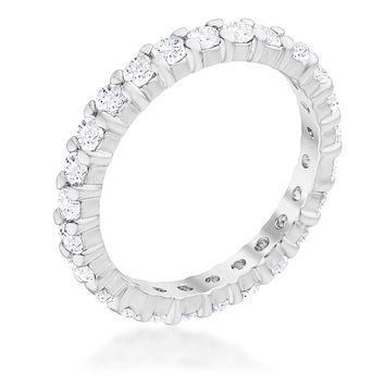Krista Eternity Round CZ Stackable Ring | 2ct
