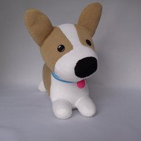 Corgi Dog Plush Toy, Dog Stuffed Animal, Sock Monkey, Stuffed Toy