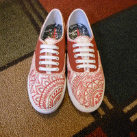 Indian Henna Shoes by PaintItBetter on Etsy
