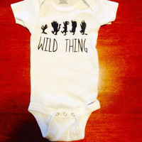 Where the Wild Things Are Maurice Sendak Inspired Baby Onesuit