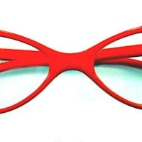 Silvia Clear Lens Cat Eye Glasses - 517 Red