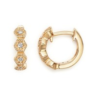 Dana Rebecca Designs 14K Yellow Gold Jennifer Yamina Huggie Earrings with Diamonds | Bloomingdales's