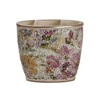 India Ink Watercolor Floral Toothbrush Holder