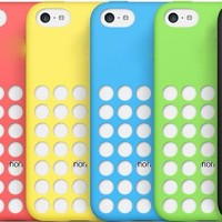 Flybsk New Fashion Silicone Polka Dot Back Case Cover for iPhone 5C (Green)