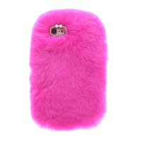 Cozy Fur iPhone Case Hot Pink