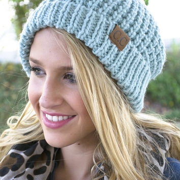 Knitted C.C. Big Beanies