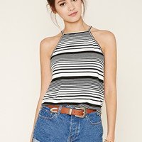 Stripe High-Neck Cami
