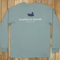 Southern Marsh Authentic Long Sleeve Tee- Burnt Sage