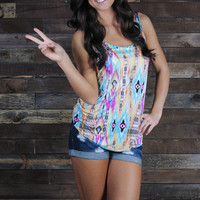 Ikat Live Without You Tank