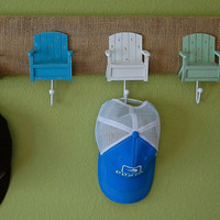5 Pastel Adirondack Chair and Burlap Wall Hanger