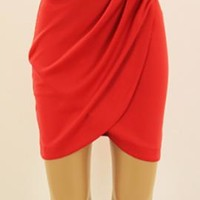 Savvy Chic Bow Tulip Skirt in Red | Sincerely Sweet Boutique