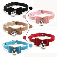 Elastic Bow Tie Cat Collar