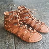 A Chestnut Warrior Sandal.