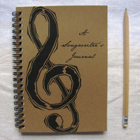 A Songwriter's Journal- 5 x 7 journal