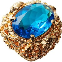 """Versace - """"Baroque"""" Line Gold Ring"""