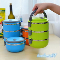 Thermal Insulated Lunch Box Bento Picnic Storage Mess Tin Food Jar Multilayer Stainless Steel For Students Children Outdoor Camping [9303718410]