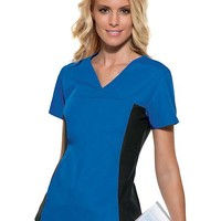 Buy Flexibles Womens Two Pocket V-Neck Nurses Scrub Top for $18.45