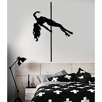 Vinyl Wall Decal Striptease Club Stripper Naked Girl Strip Dance Stickers (2149ig)