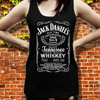 jack daniels white tank top for women and men, size S M L XL XXL