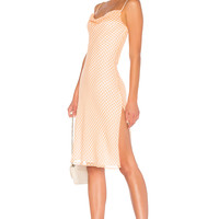 LPA Cowl Neck Dress With Slits in Orange