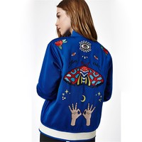 ADIDAS Fashion Embroidery Butterfly Cardigan Jacket Coat