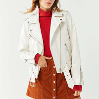 UO Patent Leather Moto Jacket | Urban Outfitters
