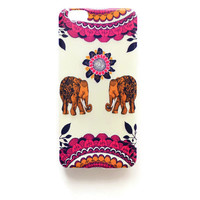 iPhone 6 Plus Case Elephant Tribal iPhone 6 Plus Soft Case Back Cover Silicone For iPhone 6 Slim Design Case Elephant Floral Mandala 1282