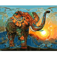 Frameless Pictures Painting By Numbers DIY Digital Oil Painting On Canvas Home Decor Wall Art Abstract Oil Painting Elephant