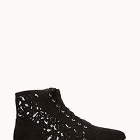 FOREVER 21 Opulent Lasercut High-Tops