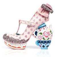 CREYI7E Irregular Choice Alice in Wonderland Collection: My Cup of Tea Pink Heels