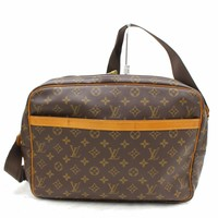 Authentic Louis Vuitton Shoulder Bag Reporter GM M45252 Browns Monogram 27531
