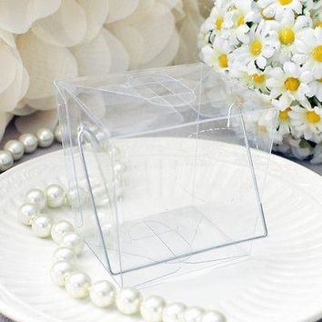 12 Clear Chinese Mini Take Out Boxes Wedding Birthday Party Favor Cake Boxes