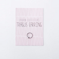 Ball Tragus Hoop in Silver - Urban Outfitters