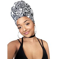 Black and white headwrap