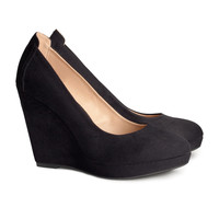 H&M - Platform Pumps - Black - Ladies